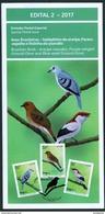 BRAZIL 2017 - ENDANGERED BRAZILIAN  BIRDS - EDICT Nr. 2 - Brazil