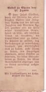 Andachtsbild - Image Pieuse - Gebet Zu Ehren Der Heiligen Agnes - Bischof Von Chur -  4*8cm (29432) - Andachtsbilder