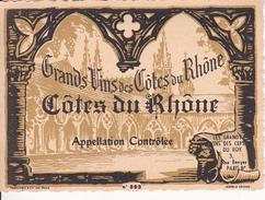 Wein Etikett - Côtes Du Rhône - Grands Vins - No. 893 (29433) - Côtes Du Rhône