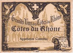 Wein Etikett - Côtes Du Rhône - Grands Vins - No. 893 (29434) - Côtes Du Rhône