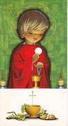 Andachtsbild - Image Pieuse - Communion - St-Maurice De Wolschwiller - 1971 - Marie-Rose Eglin 6*11cm (29436) - Andachtsbilder