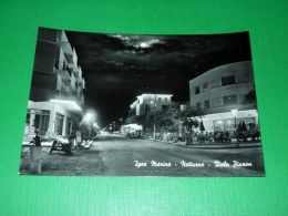 Cartolina Igea Marina - Notturno - Viale Pinzon 1955 Ca - Rimini
