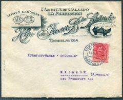 1927 Spain Torrelavega Advertising Cover. Zapato Sandalia, Calzado 'La Perfeccion' Illustrated Ladies Shoes - 1889-1931 Kingdom: Alphonse XIII