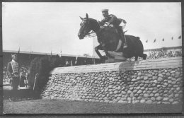 1912 Sweden Stockholm Olympics. Official RP Postcard 243 Lt Von Hohenhau, Showjumping Germany - Olympic Games