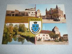 CPM, Carte Postale, Seine-et Marne 77, Mouroux, Vues Diverse, Multivues, Centre Ville, Animée, Voitures Commerces, Autos - Sonstige Gemeinden