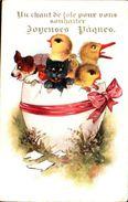 Inter-art Co 3831 Comique, Pâques Chien Chat Poussin Canard Oeuf - Autres Illustrateurs