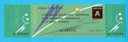 2003 IHF World Women's Handball Championship - Old Ticket For Matches Ivory Coast Slovenia Germany Hungary China Denmark - Handball