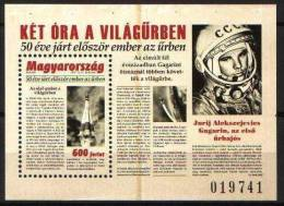 Hungary 2011. Space - Gagarin - The First Flying 50. Anniversary Sheet MNH (**) Michel: Block 340 - Europe