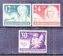 GERMANY  OCCUP.  POLAND N B 5-7   * - Occupation 1938-45
