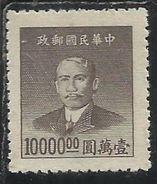 CHINA CINA 1949 Dr Sun Yat-sen 10000$ NG - 1912-1949 République