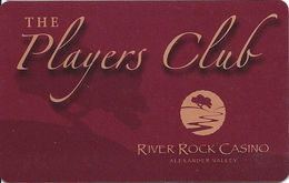 River Rock Casino - Alexander Valley, CA USA - Slot Card (BLANK) - Casino Cards