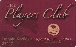 River Rock Casino - Alexander Valley, CA USA - Slot Card - Casino Cards