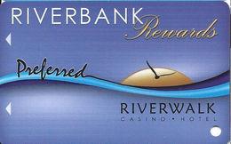 Riverwalk Casino - Vicksburg, MS USA - Slot Card (BLANK) - Casino Cards