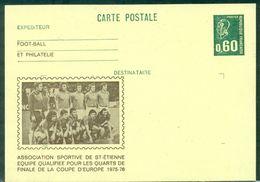 FOOT.CPEP.SCHEFFER REPIQUE AS ST ETIENNE 1975 / 1976 Rare Tb - Club Mitici