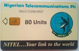 Nigeria Phonecard 80 Units 3NAIF Satellite Nigerian Telecommunications PLC - Nigeria