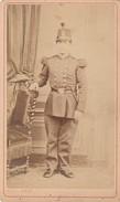 PHOTO CDV 19 EME Militaire Soldat Empire Cabinet M PAUL A PARIS - Guerre, Militaire