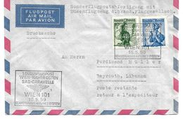 4156j: Erstflug Sas- Caravelle Wien- Beirut, Zuleitung Österreich 1959 - Liban