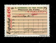 458900091 SPANJE 2001 POSTFRIS MINT NEVER HINGED EINWANDFREI  YVERT 3393 - 2001-10 Unused Stamps