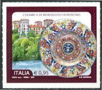 ITALIA / ITALY 2017** - Ceramica Di Montelupo Fiorentino - 1 Val. MNH Autoadesivo Come Da Scansione. - 6. 1946-.. Repubblica