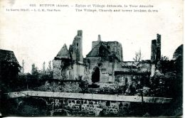 N°54037 -cpa Soupir -église Et Village Défoncés, La Tour Démolie- - Frankreich