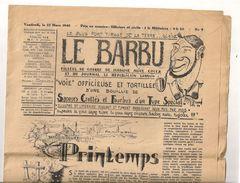 LE BARBU FILLEUL DE GUERRE DU JOURNAL LE REPUBLICAIN LORRAIN ALICE COCEA  N°9 22 MARS 1940 MILITARIA - Documents