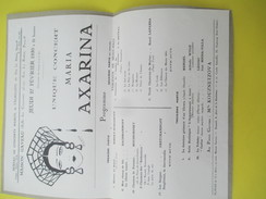 Programme/Maison Gaveau/Concerts De Valmaléte/Maria Axarina/Kouznetzova/Paris /1930                              PROG150 - Programmes