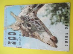 Guide Officiel/ ZOO De VINCENNES / Muséum National D'Histoire Naturelle / /Paris /1952     PGC145 - Books, Magazines, Comics
