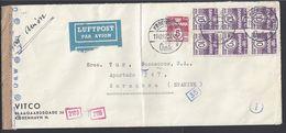 DANEMARK - 1942 - Enveloppe Par Avion De Kobenhavn Vers Zaragoza Avec Contrôle De Censure - - 1913-47 (Christian X)