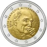 Frankrijk  2016    2 Euro Commemo  Président Francois Mitterrand   UNC Uit De Rol  UNC Du Rouleaux  !! - France