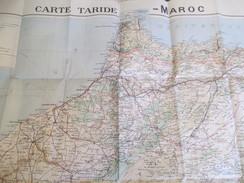 Carte Routière,   Ferroviaire  Et Hydrographique/ MAROC/Cartes TARIDE / Paris /Vers 1925     PGC143 - Roadmaps