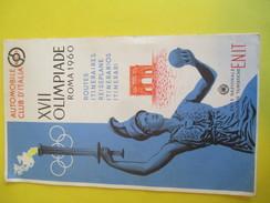 Carte Routière/Dépliant Touristique/Automobile Club Italia /Plan De Rome/Jeux Olympiques ROME/XVII Olimpiade/1960 PGC144 - Cartes Routières