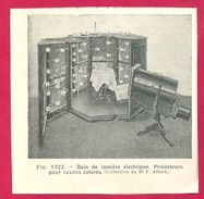 Bain De Lumière électrique Larousse Médical Illustré 1929 - Vieux Papiers