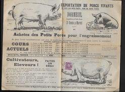 Lot  - St Denis-p- Martel -- DORMEUIL - Exportation De Porcs Vivants - Publicités