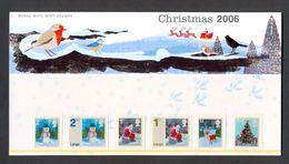 Nbd0088b DECEMBERZEGELS KERSTMIS HERT VOGEL CHRISTMAS SANTA CLAUS DEER BIRDS OISEAUX MOUNTAIN GREAT BRITAIN 2006 PF/MNH - Altri