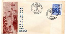 Carta  Con Matasello Commemorativo  Exposicion Filatelica Torrente. - 1971-80 Storia Postale