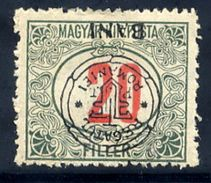TRANSYLVANIA 1919 Overprint Type I Inverted On 20 H. Postage Due  MH / *.  Michel Porto 9 I - Transylvania