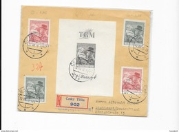Reco Brief Mif. +  Schwarzdruck Cesky Tesin N. Stuttgard 1938 (125) - Briefe U. Dokumente