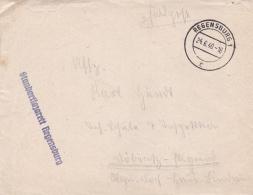 Feldpost WW2: Standortlazarett Regensburg P/m Regensburg 24.6.1940 - Letter Inside  (DD1-12) - Militaria