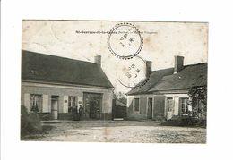 Cpa SAINT ST GEORGES DE LA COUEE Maison Fougeray épicerie - Aug Cocu éd - France