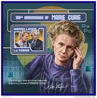 SIERRA LEONE 2017 ** Marie Curie Albert Einstein S/S - OFFICIAL ISSUE - DH1720 - Albert Einstein