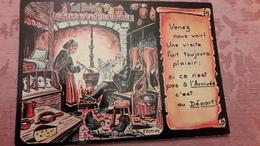 Images De Chez Nous 1319 D'après Une Assiette Décorative Du Peintre CANOVA Venez Nous Voir ! Une Visite Fait Toujours .. - Illustrateurs & Photographes