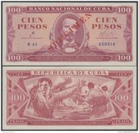 1961-BK-42 CUBA 1961. 100$ CESPEDES. PROOF SPECIMEN. SIGNED ERNESTO CHE GUEVARA. UNC. - Cuba