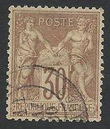France, 30 C. 1876, Sc # 73, Mi # 64I, Used - 1876-1878 Sage (Type I)