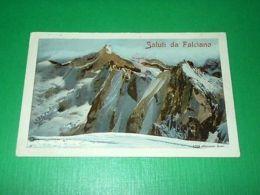 Cartolina Saluti Da Falciano ( Caserta ) - Panorama Delle Montagne 1912 - Caserta