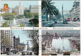 Barcelona: FIAT-SEAT 600,1400B, VW 1200 KÄFER/COX, DKW F89L, 2x TRAM, SEAT TAXI'S - Rucuerdo/Remembrance - Toerisme