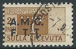 1947-48 TRIESTE A USATO PACCHI POSTALI SEZIONE DI DESTRA 1 LIRA - R14-6 - Paketmarken/Konzessionen