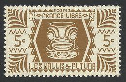 Wallis And Futuna, 5 C. 1944, Sc # 127, MNH - Wallis And Futuna