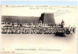 ALGERIE - Extrême-Sud-Algérien - Une Cie De Tirailleurs Sahariens   (Recto/Verso) - Algérie