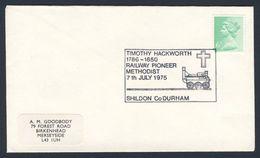 Great Britain 1975 Cover / Brief - Timothy Hackworth (1786-1850) Railway Pioneer / Bahnpionier - Treinen