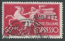 1950 TRIESTE A USATO ESPRESSO 60 LIRE - R14-7 - 7. Triest